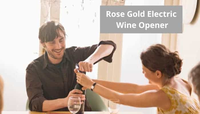 Top rated rose gold electric wine opener