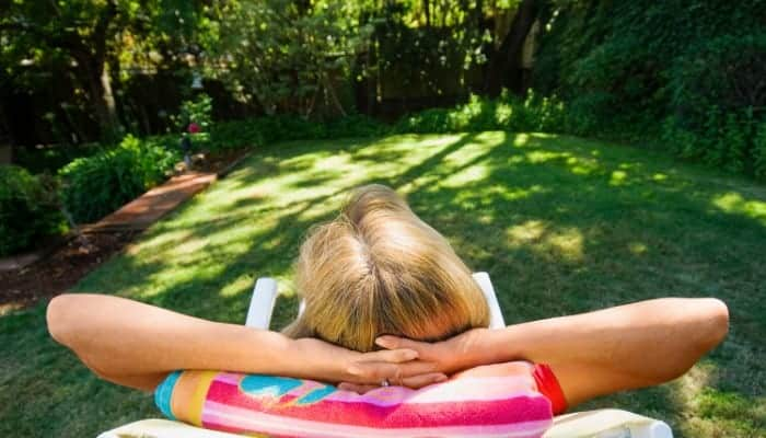 Relax on a comfortable recliner lawn chair