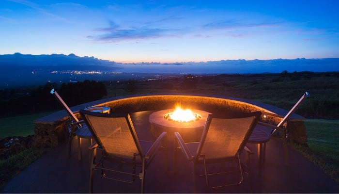 A fire pit for camping or patio