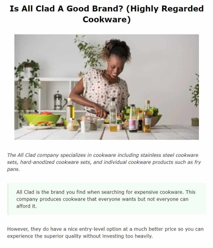 All Clad is an amazing cookware brand