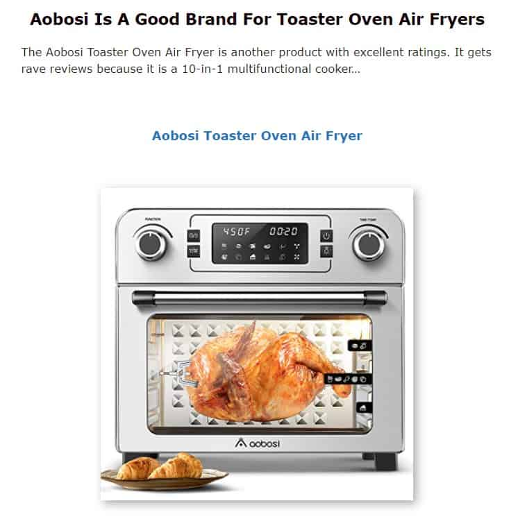 Aobosi is a good brand for toaster ovens