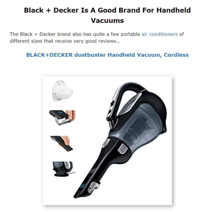 Black and Decker is a good vacuum brand