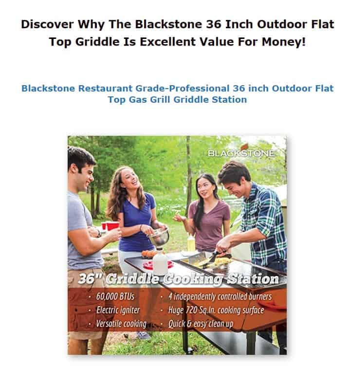 Blackstone is an amazing camping griddle brand