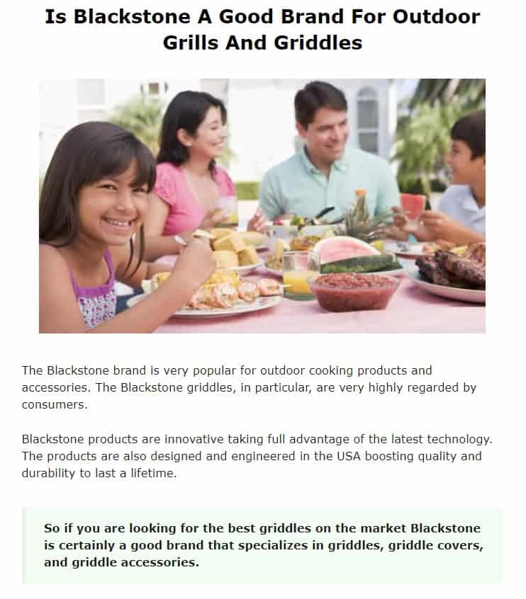 Blackstone is an amazing grill brand
