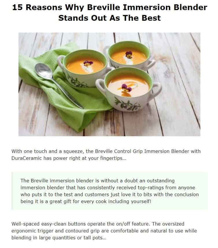 Breville is an amazing brand for immersion blenders