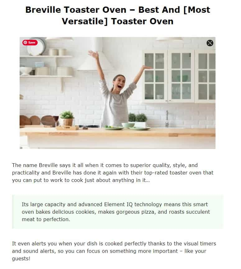 Breville is an amazing brand for toaster ovens
