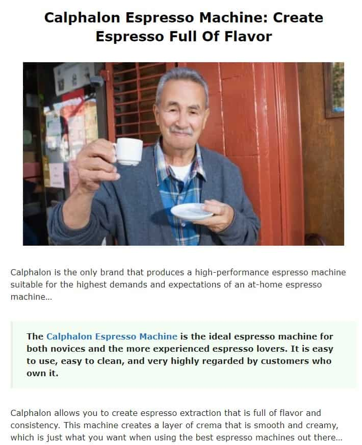 Calphalon is an excellent brand for espresso machines