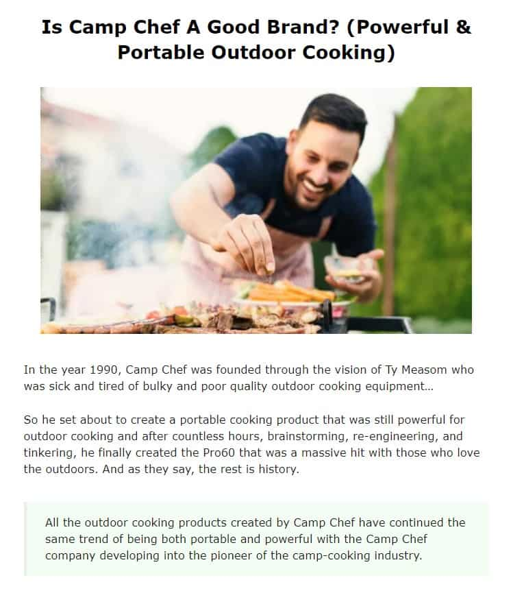 Camp Chef Is An Amazing Brand For Camping