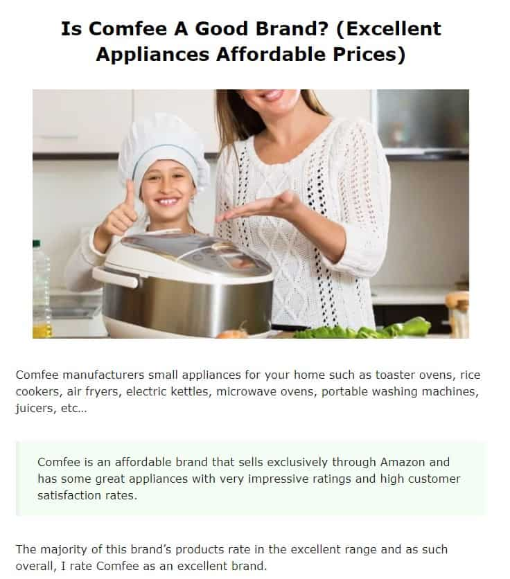 Comfee is an excellent small appliance brand