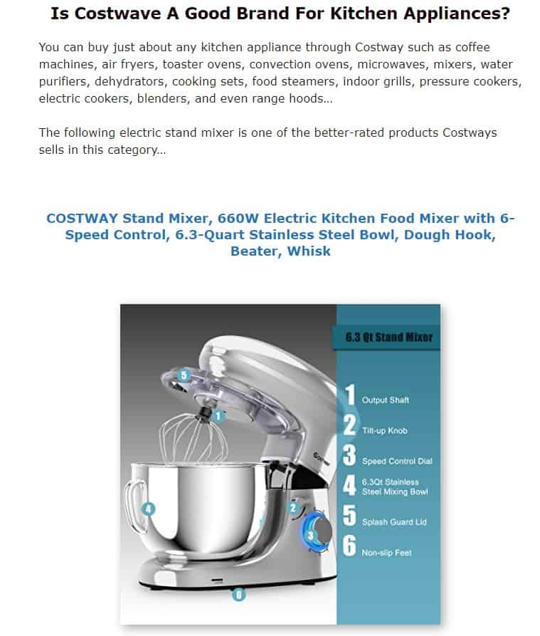 Costway is an excellent small appliance brand