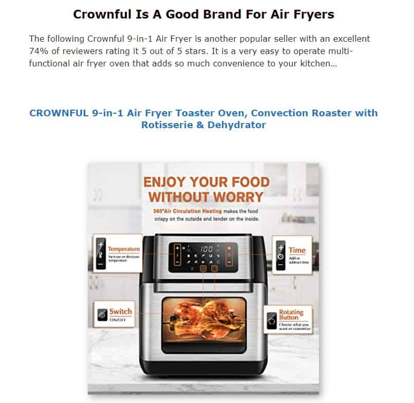Crownful is an excellent air fryer brand
