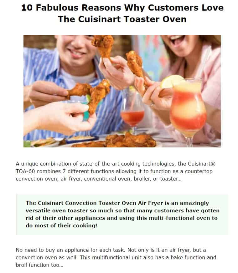 Cuisinart is an excellent toaster oven brand