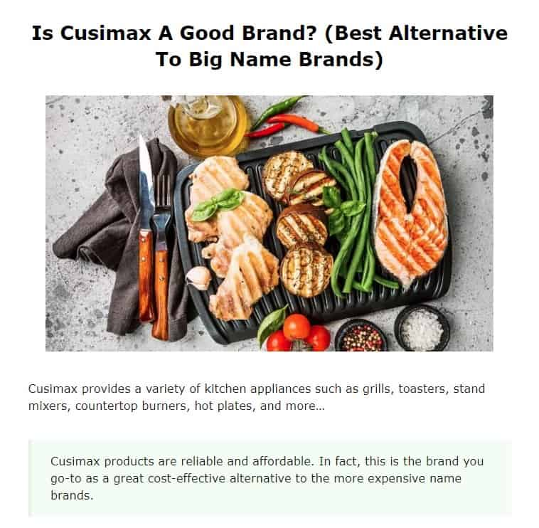 Cusimax is an excellent indoor grill brand