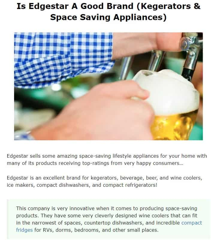 Edgestar is an amazing small kitchen appliance brand