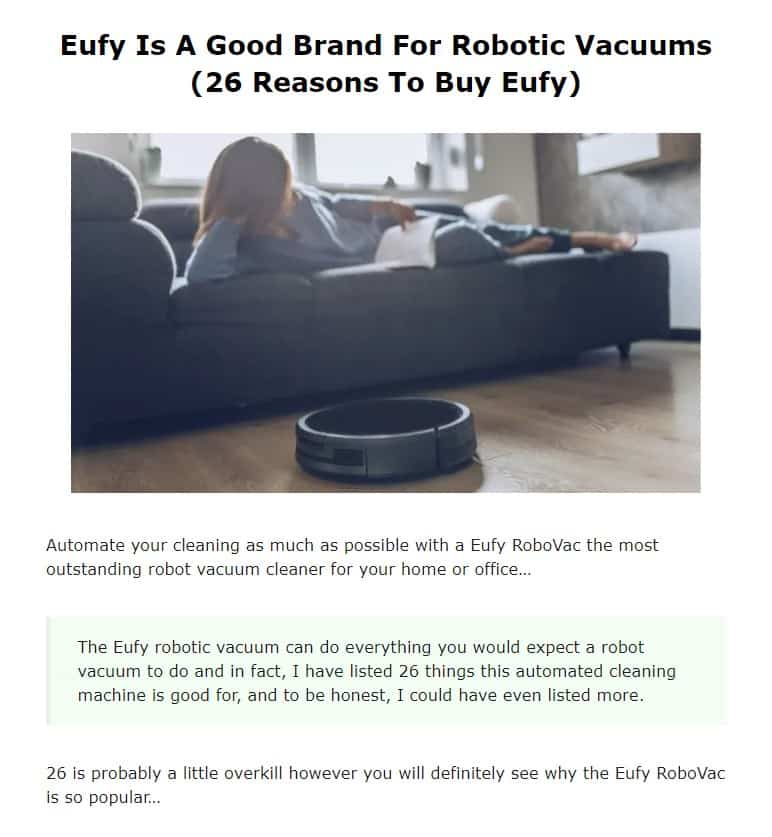 Eufy is an excellent vacuum brand