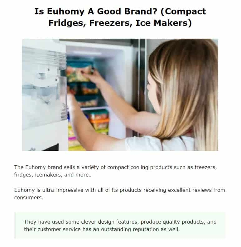 Euhomy is an excellent countertop appliance brand