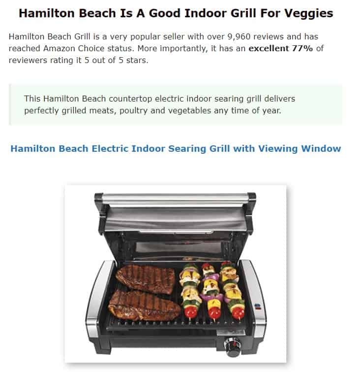 Hamilton Beach is an excellent grill brand