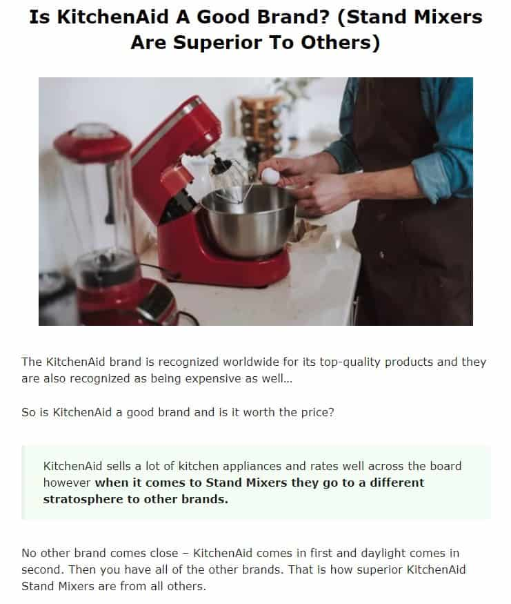 KitchenAid is clearly the best kitchen mixer brand