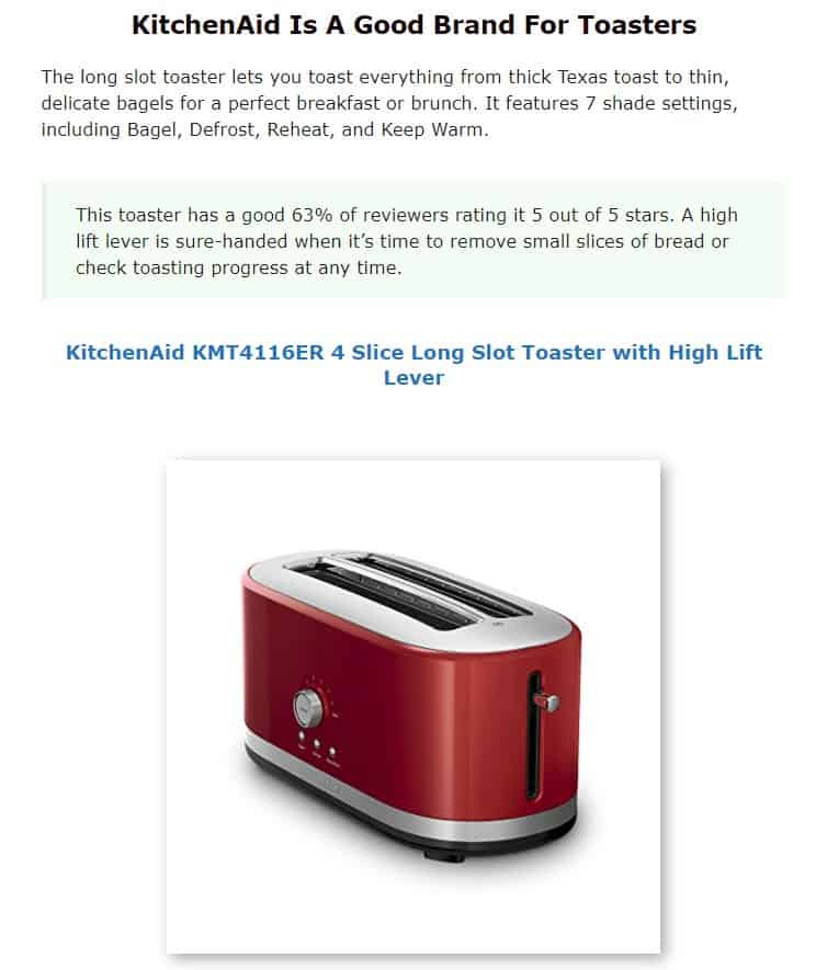 KitchenAid is a good brand for toaster ovens