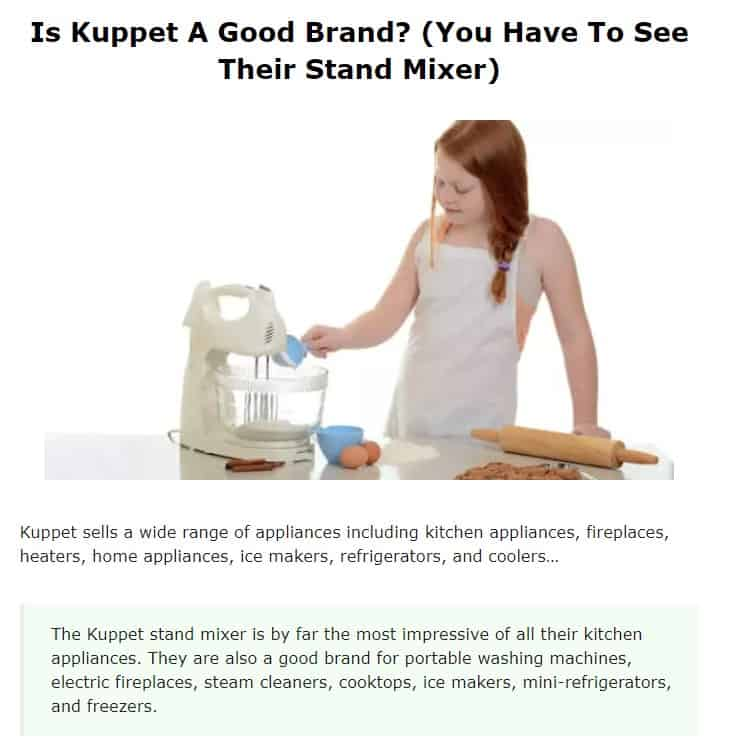 Kuppet is an excellent stand mixer brand