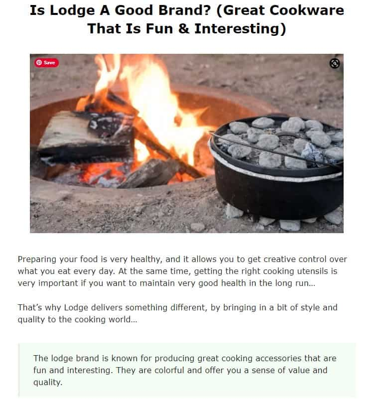 Lodges is an amazing cookware brand