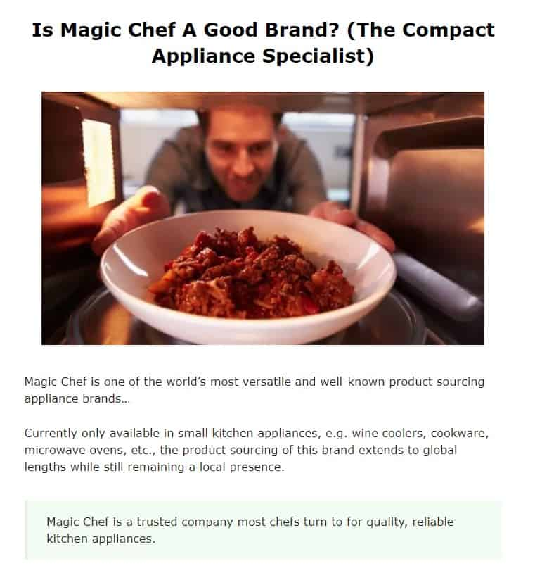 magic Chef is an excellent countertop appliance brand