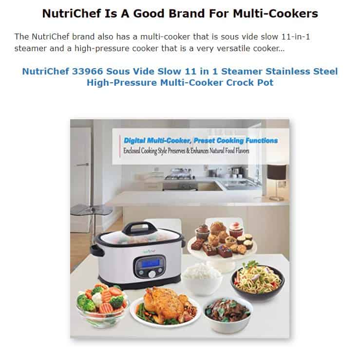 Nutrichef is a good multicooker brand