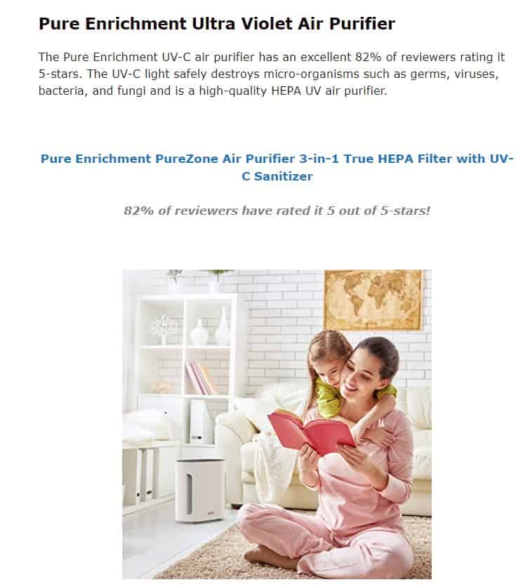 Pure Enrichment is an amazing air purifier brand