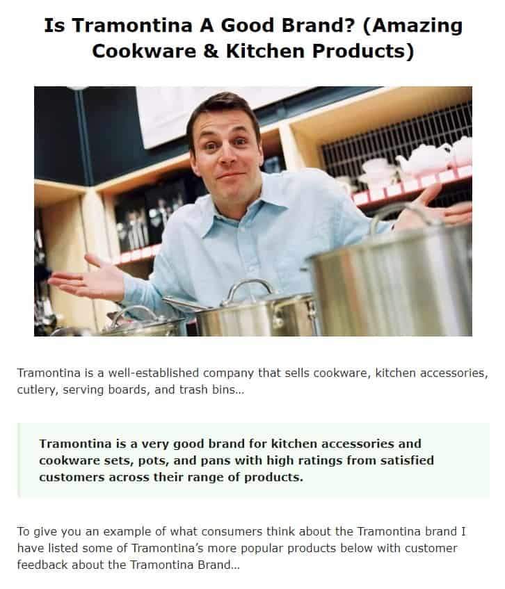 Tramontina is an amazing cookware brand