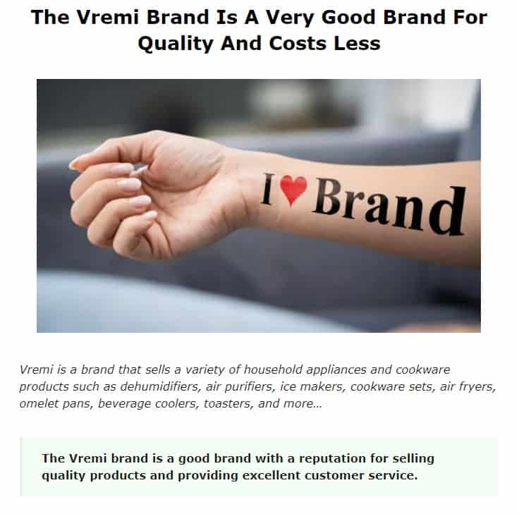 Vremi is an excellent brand