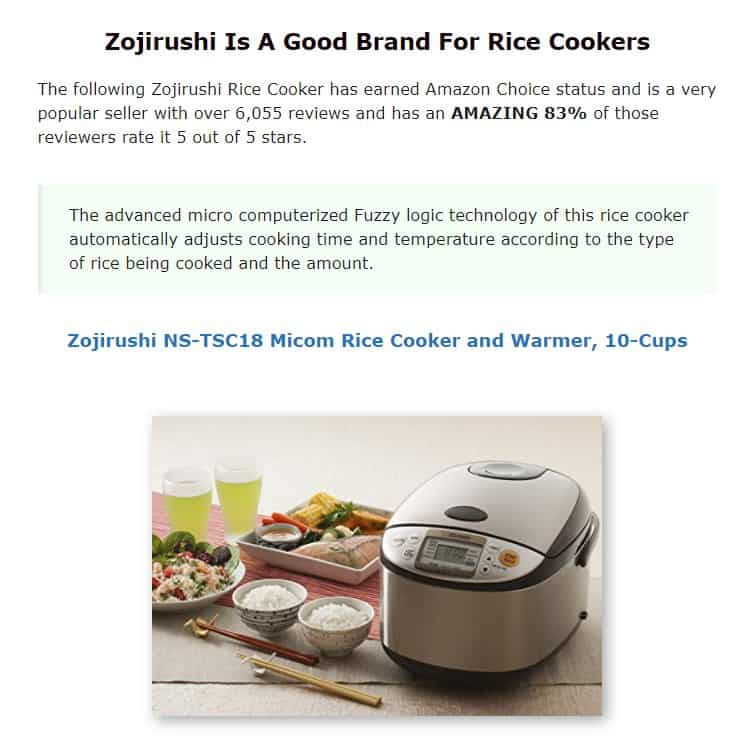 Zorijushi is an amazing rice cooker brand
