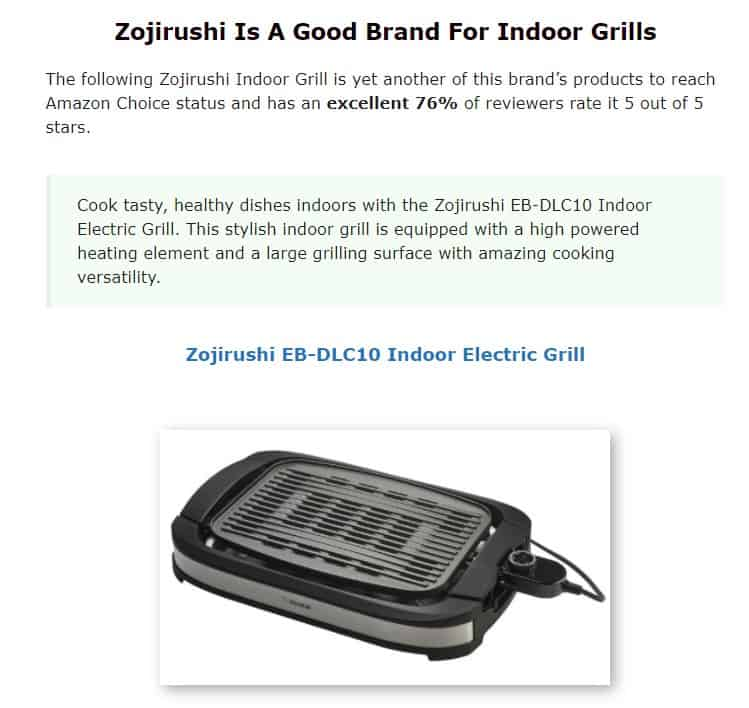 Zorijushi is an excellent brand for indoor grills