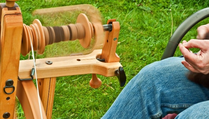 Ashford is a good brand for spinning wheels and weaving products